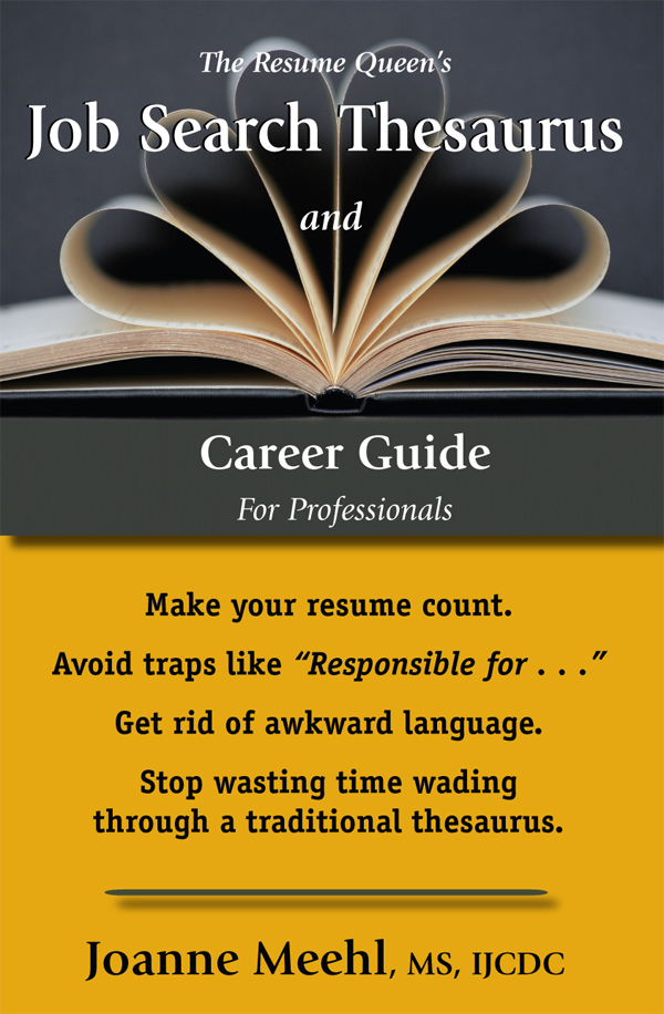Job Search Thesaurus And Career Guide